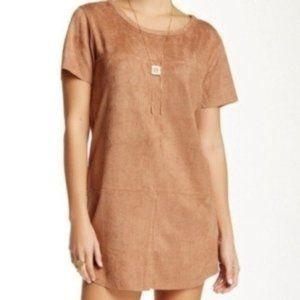 Mink Pink Brown Suede Mini Dress XS